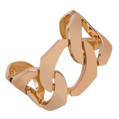"""Seaman Schepps Gold """"Five Link"""" Cuff Bracelet"""