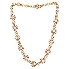 Evergreen Stunning Rosecut Diamond Gold Necklace