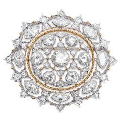 Buccellati Gold Diamond Brooch Pendant
