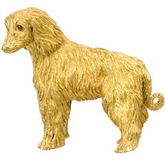 Tiffany & Co. Sapphire Gold Shaggy Dog Brooch