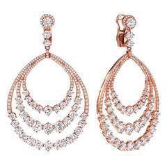 Fancy Red Carpet Diamond Earrings