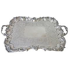 Emes & Barnard Antique English Sterling Silver Tray c1842