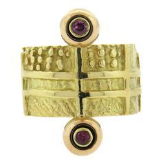 Giorgio Facchini Wide Ruby Gold Ring