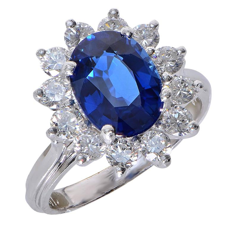 Carat sapphire and diamond platinum ring at 1stdibs for 26 carat diamond ring