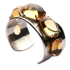 Tiffany & Co. Citrine Silver Cuff Bracelet