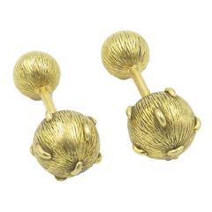 Tiffany & Co. Schlumberger Gold Sphere Cufflinks