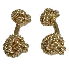Twisted Gold Large Knot Cufflinks