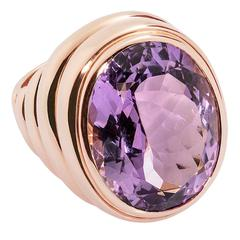 Colleen B. Rosenblat amethyst gold ring