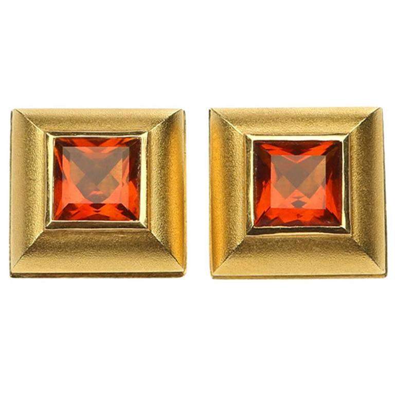 Paul Morelli Madeira Citrine Gold Earrings
