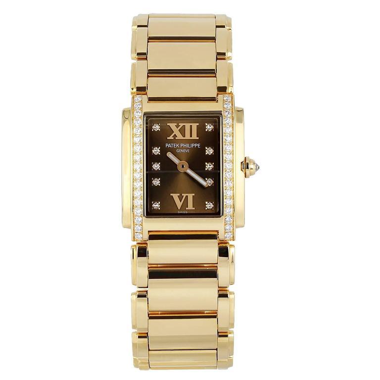 Patek Philippe Lady's Rose Gold Twenty-4 Quartz Wristwatch Ref 4910/11R-010