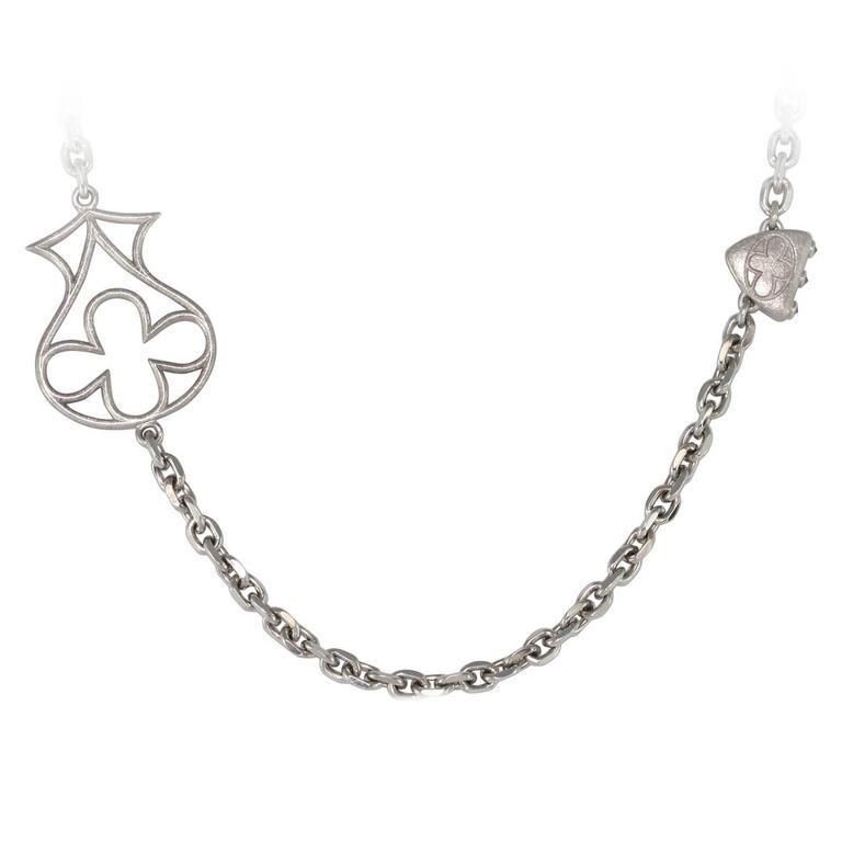Black Diamond Palladium Necklace at 1stdibs