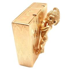 Ruser Sapphire Gold Angel Pocket Compact Storage Box