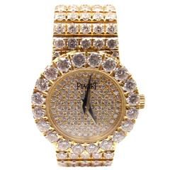 Piaget Lady's Yellow Gold Diamond Classique Quartz Wristwatch
