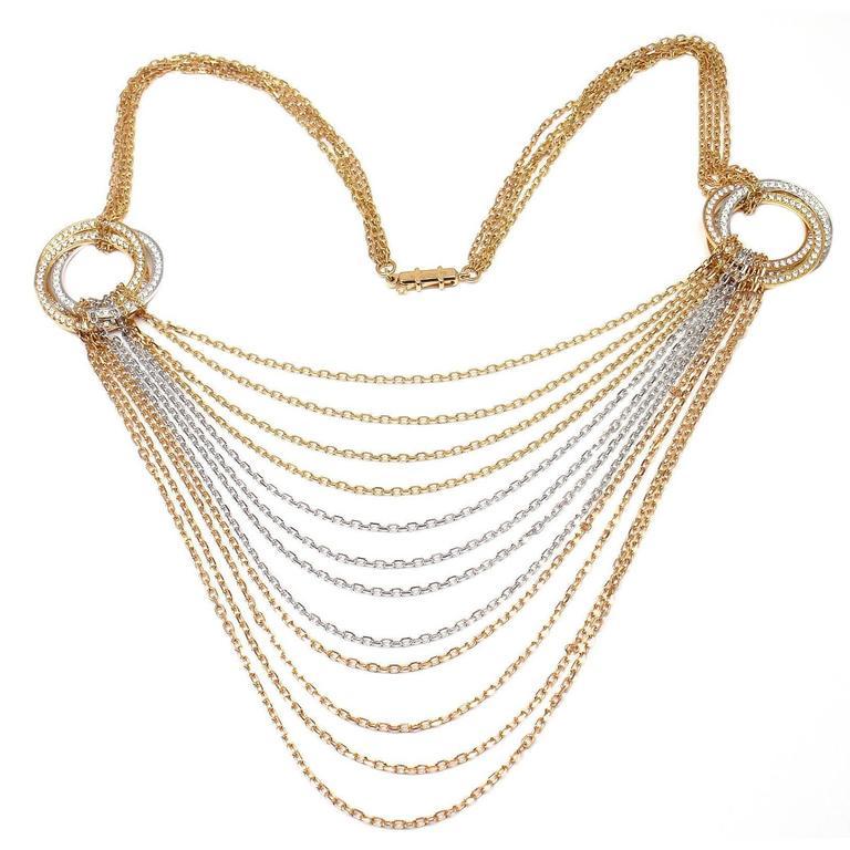 Cartier Trinity de Cartier Diamond  Multicolor Gold Necklace