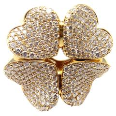 Pasquale Bruni 4LOVE Diamond Gold Four Leaf Clover Ring