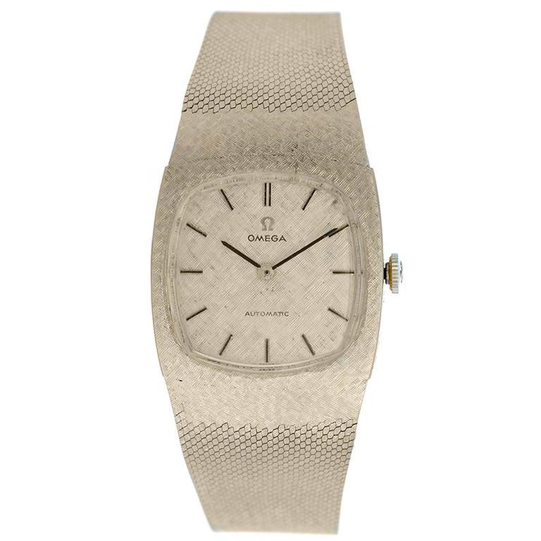 Omega Yellow Gold Automatic Dress Wristwatch