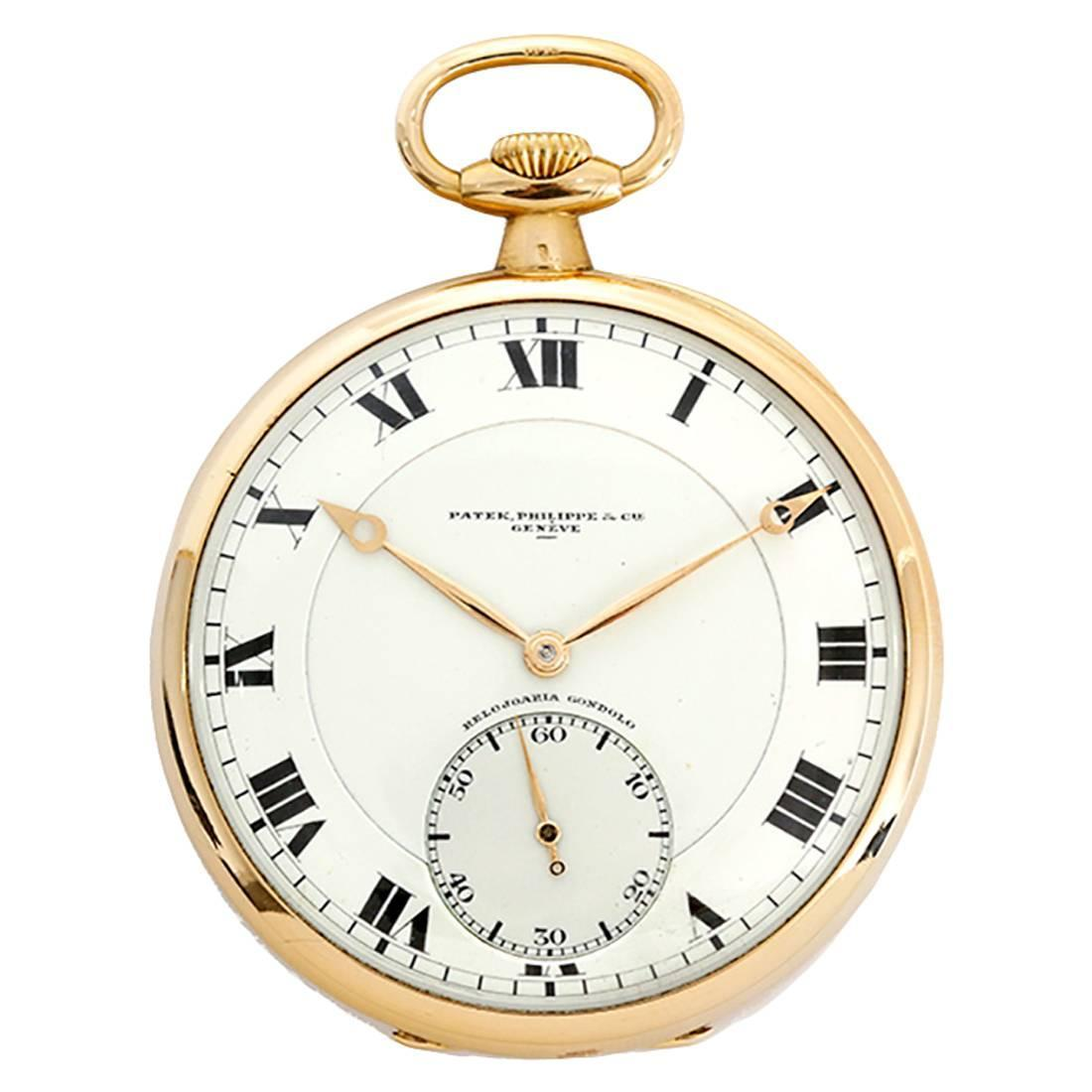 patek philippe yellow gold relojoaria gondolo open faced