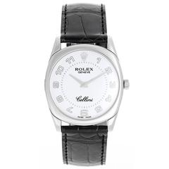 Rolex White Gold Cellini Danaos White Dial Wristwatch Ref 4233/9