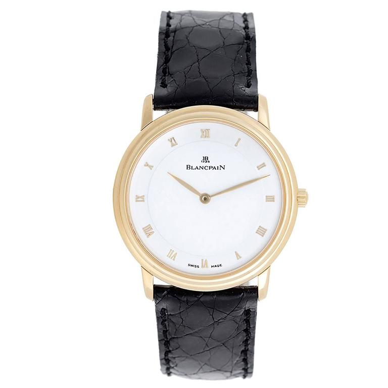 Blancpain Yellow Gold Villeret Automatic Winding Wristwatch 1