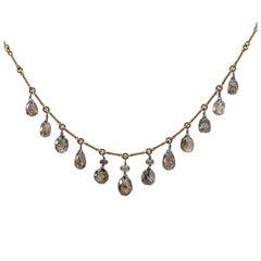 Persian Gold Filigree Choker Necklace