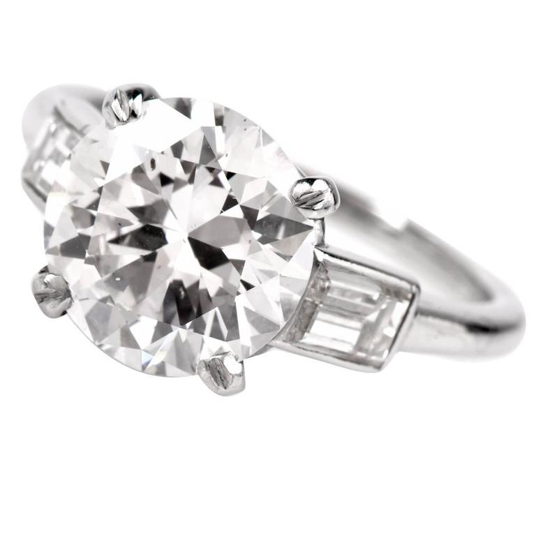 Cartier Diamond Platinum Solitaire Engagement Ring 1