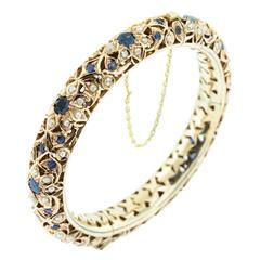 Sapphire Pearl Gold Bracelet
