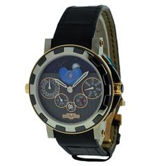 Dewitt Titanium Rose White Gold Academia Quantum Perpetual Nebula GMT Wristwatch