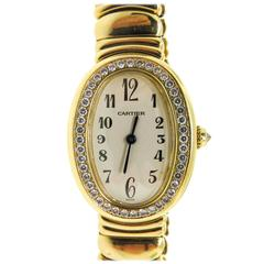Cartier Lady's Yellow Gold Baignoire Wristwatch