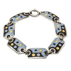 Theodor Fahrner Antique Enamel Silver Bracelet