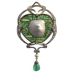Emile Olive An Impressive Belle Epoque Brooch Pendant by Fonsèque & Olive