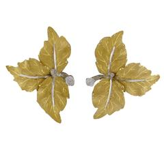 Buccellati Gold Three Leaves Earrings