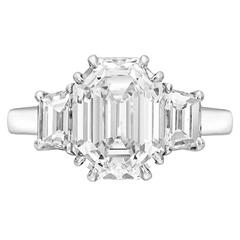 5.33 Carat Emerald-Cut Diamond Platinum Ring