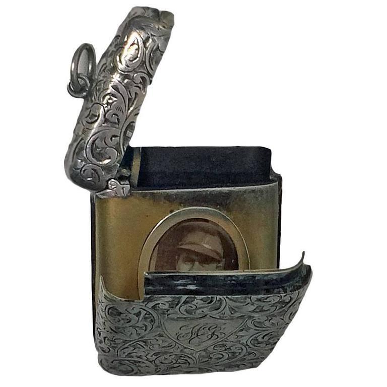 Rare Birmingham 1903 C & Co. Combination Silver Vesta Locket