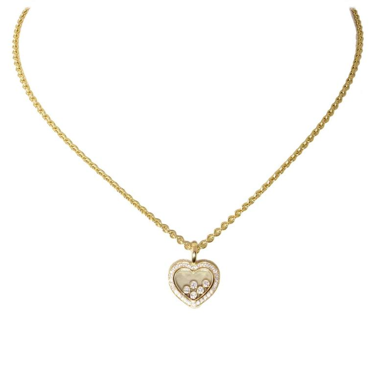 Chopard Happy Diamond Gold Heart Pendant