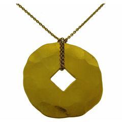 Dinh Van 24 karat Gold Pendant Necklace
