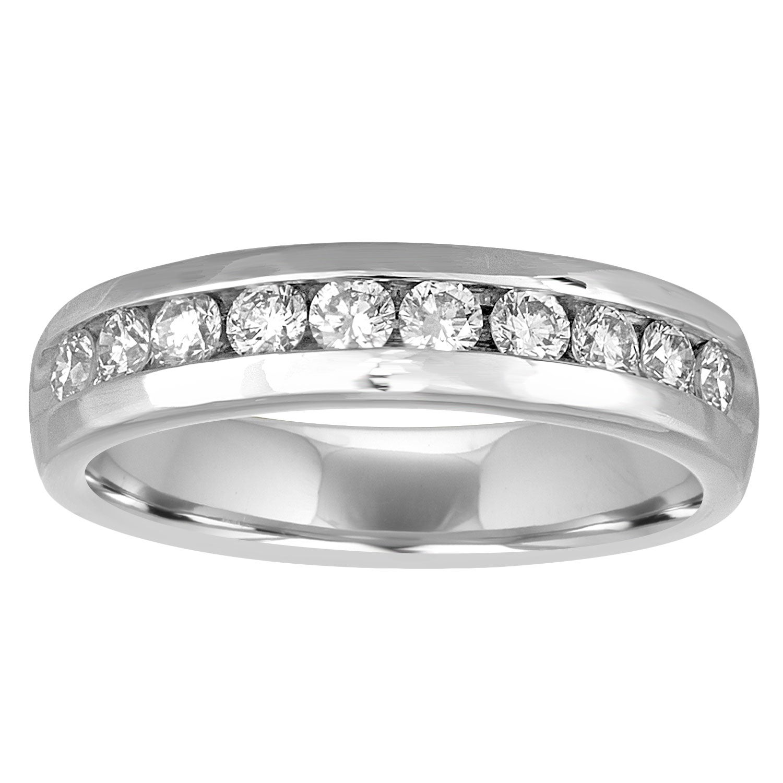 1.00 Carat Men's Diamond Platinum Wedding Band Ring