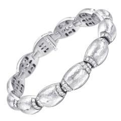 Vaid Diamond Gold Domed Link Bracelet