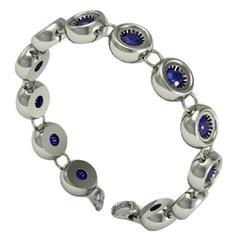 Barbara Nanning and Sparkles Sapphire and Gold Bracelet