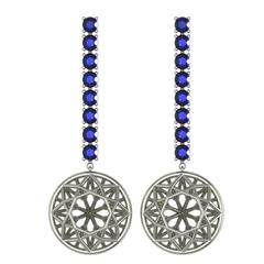 Sayaka Yamamoto and Sparkles Sapphire and Gold Earrings