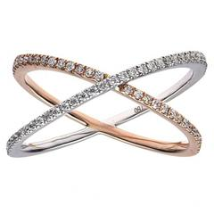 Diamond Two-Tone Gold Fashion Ring