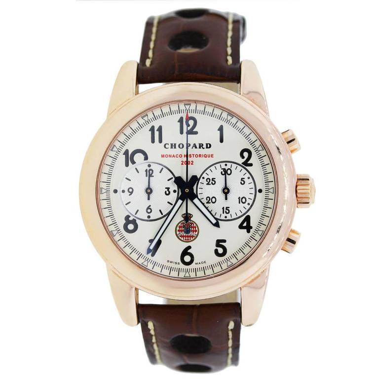 Chopard Rose Gold Ltd Ed Grand Prix Historique Monaco Automatic Wristwatch