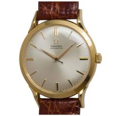 Omega Yellow Gold Automatic Dress Model Wristwatch