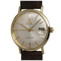 Omega Yellow Gold Filled and Stainless Steel Seamaster Automatic Wristwatch