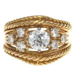 Gubelin Diamond Gold Ring