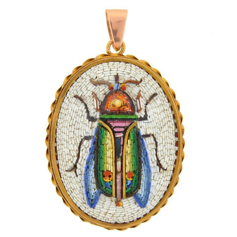 Victorian fine scarab beetle micro mosaic pendant locket at 1stdibs victorian fine scarab beetle micro mosaic pendant locket for sale aloadofball Choice Image