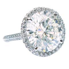 10.04 Carat GIA Cert Round Brilliant Diamond Platinum Engagement Ring