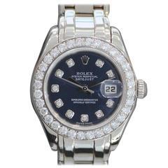 Rolex Lady's Pearlmaster White Gold Diamond Wristwatch Ref 80299