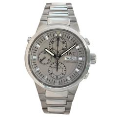 IWC Stainless Steel GST Split Second Rattrapante Chronograph Wristwatch