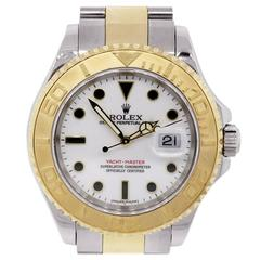Rolex Yellow Gold Stainless Steel Yachtmaster Automatic Wristwatch Ref 16623