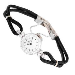 Rolex Lady's White Gold Diamond Dress Wristwatch